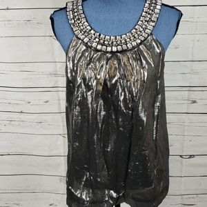 Stunning Silver Shiny Tank Top by INC